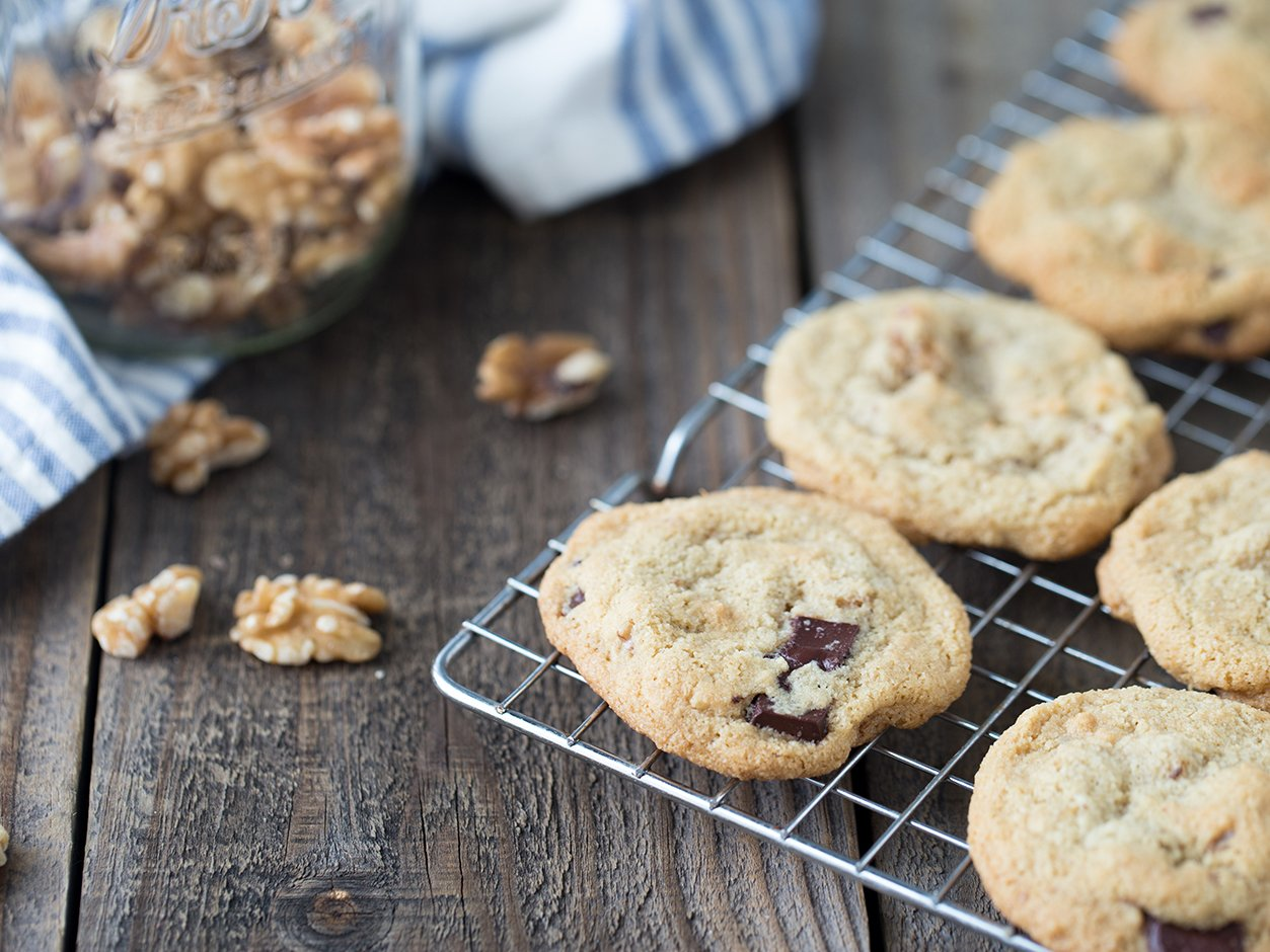 Maple Walnut Dark Chocolate Chunk Cookies