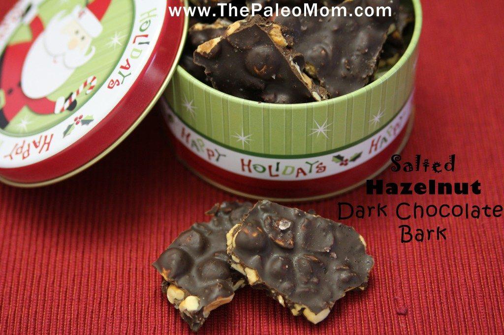 Salted Hazelnut Dark Chocolate Bark | The Paleo Mom