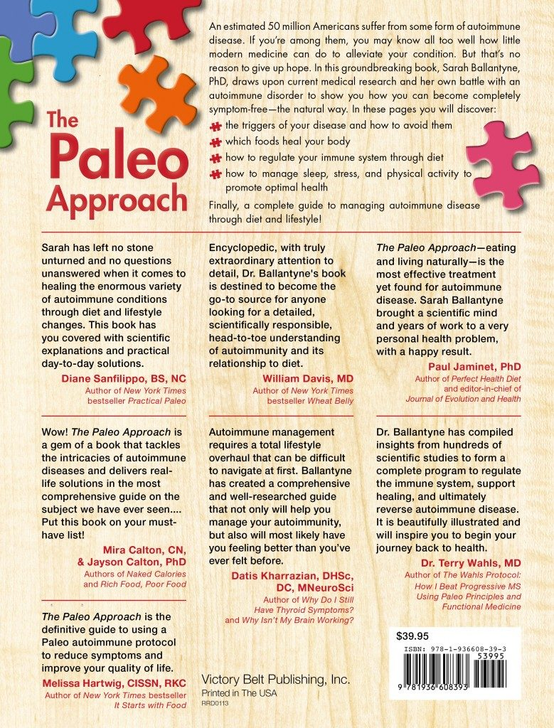 The Paleo Approach Rear Cover