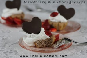 Strawberry Mini-Spongecake | The Paleo Mom