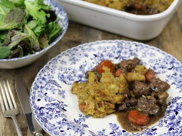 Steak and Kidney Pot Pie with Kufu