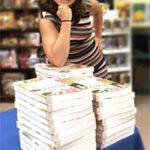 Sarah with Books