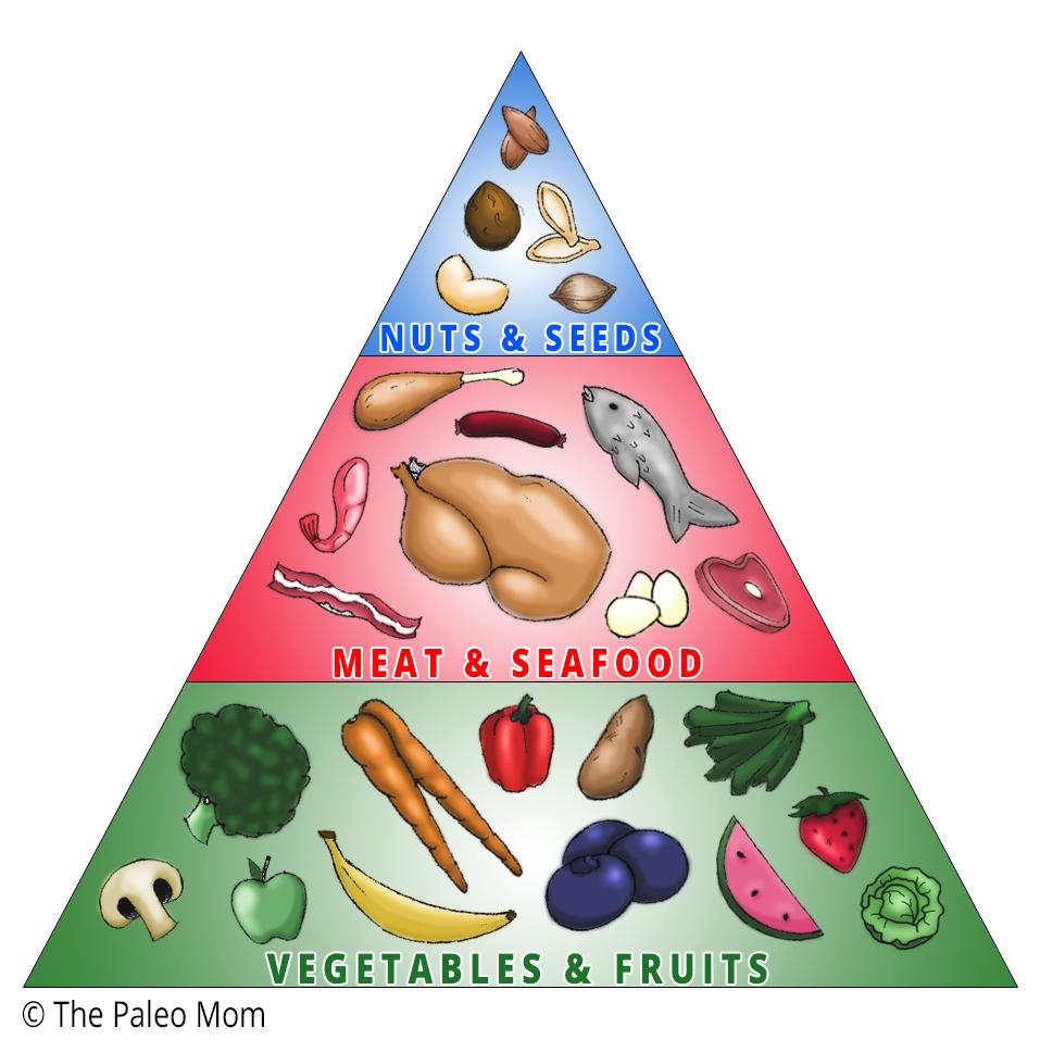 food pyramid outline