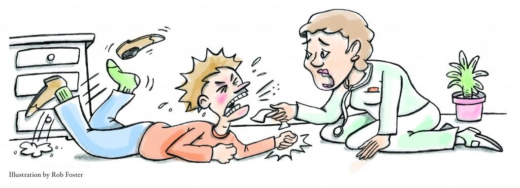 patient having temper tantrum