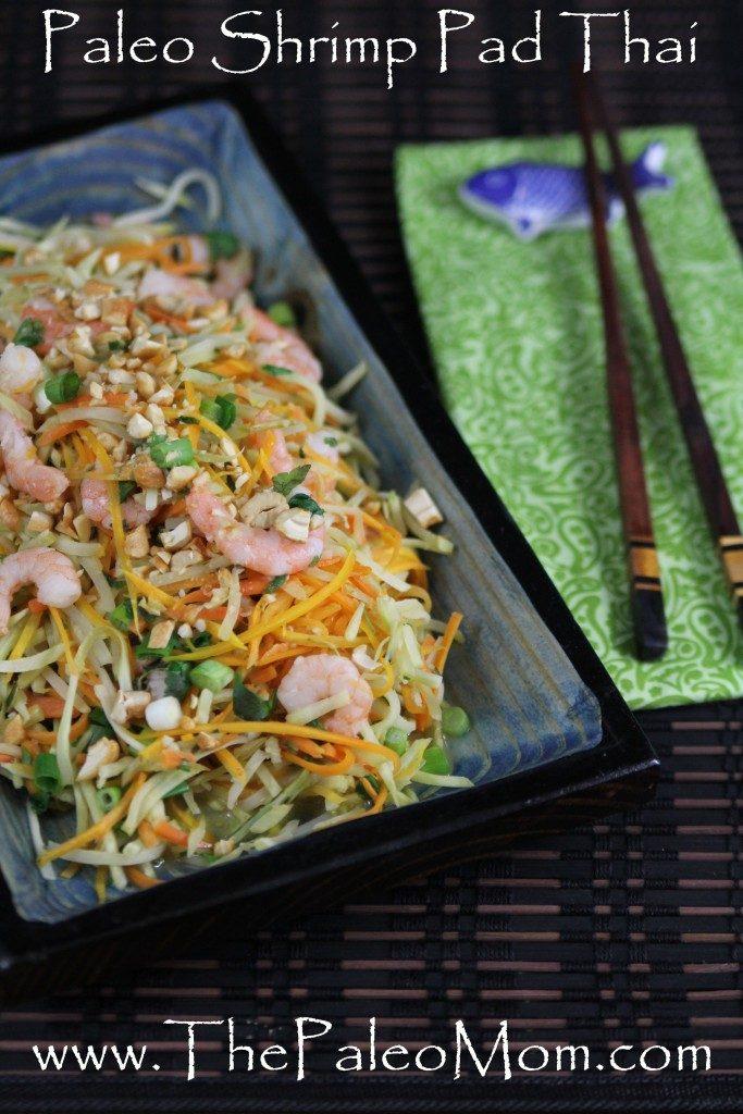 Shrimp Pad Thai On The Lighter Side Recipe — Dishmaps