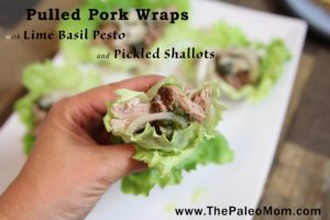 Pulled Pork Wraps with Lime Basil Pesto and Pickled Shallots 2