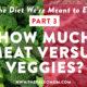 meat vs veggies