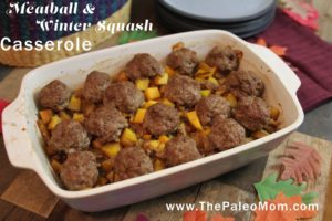 Meatball and Winter Squash Casserole