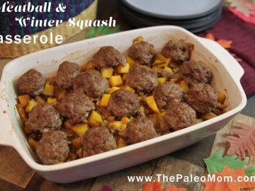 Meatball and Winter Squash Casserole