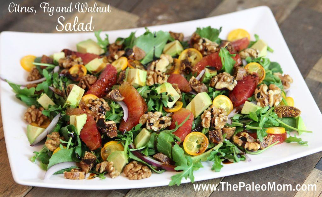 Citrus, Fig and Walnut Salad