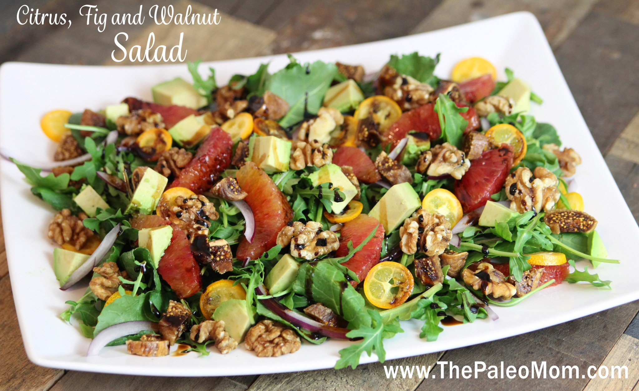 Citrus, Fig and Walnut Salad