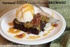 Bacon Caramel Double Choclate Brownies