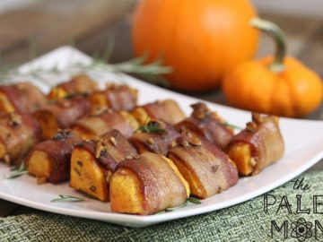 Bacon Wrapped Spiced Squash