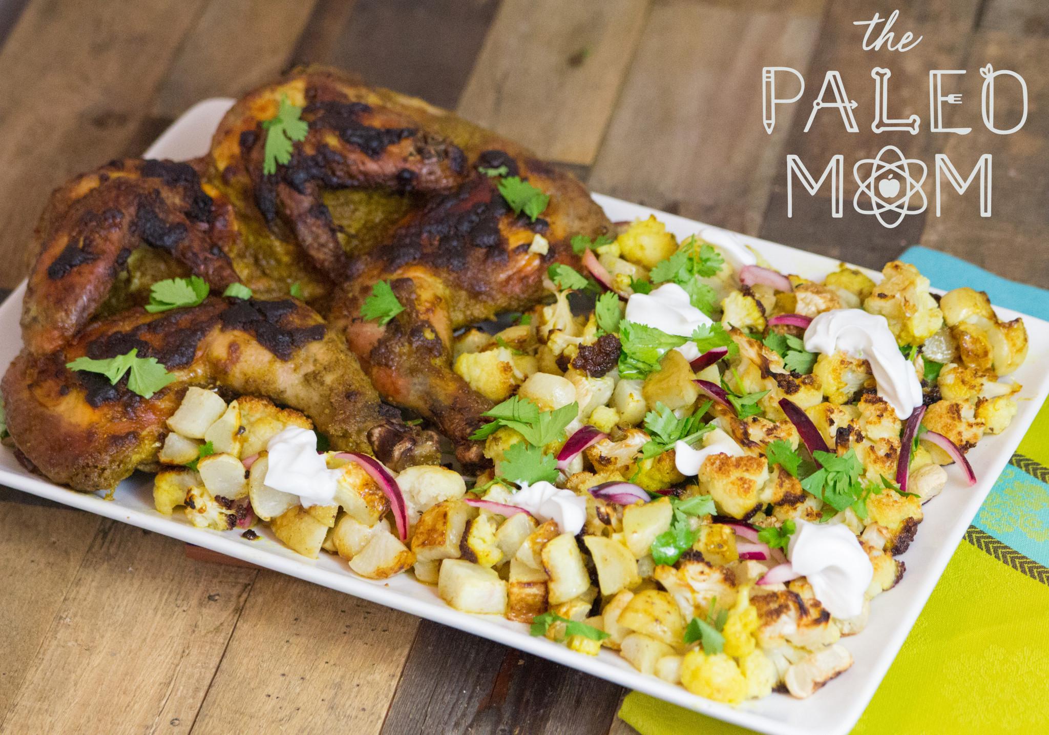 Bengali Tandoori Chicken with Aloo Gobi