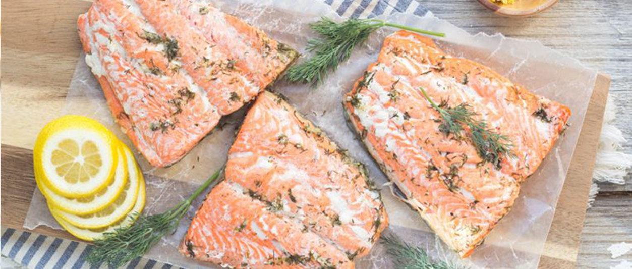 Lemon Dill Poached Salmon