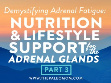 Demystifying Adrenal Fatigue, Pt. 3: Nutrition & Lifestyle Support for the Adrenal Glands
