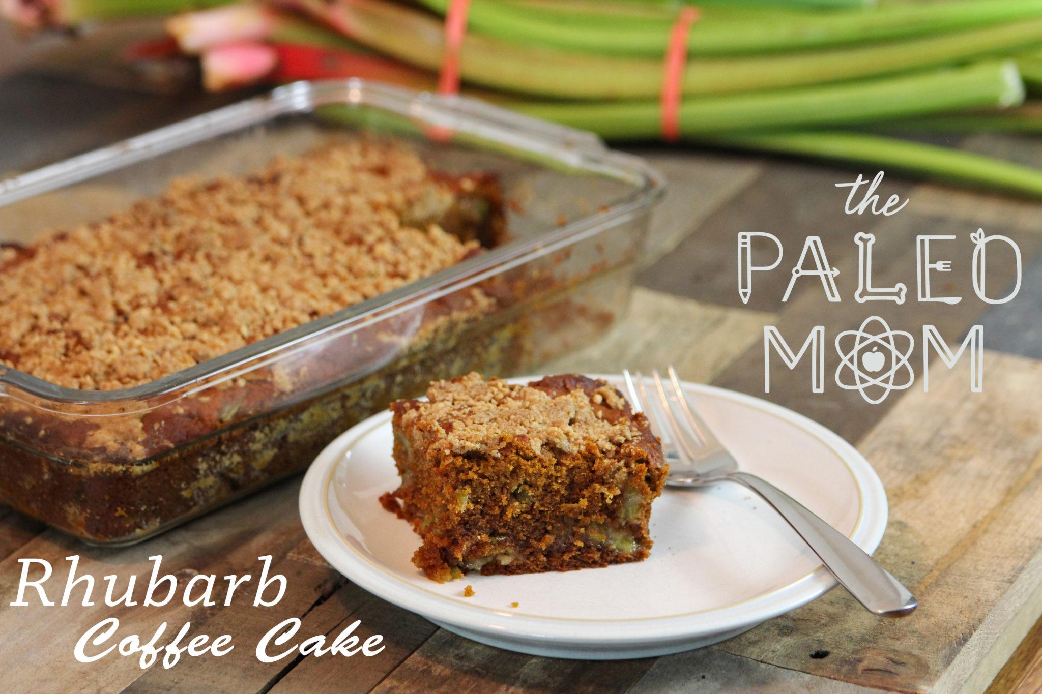 Paleo Rhubarb Coffee Cake