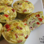 ham and sweet potato egg muffins