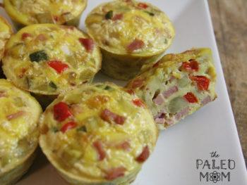 ham and sweet potato egg muffins