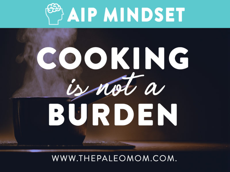 Cooking is not a burden