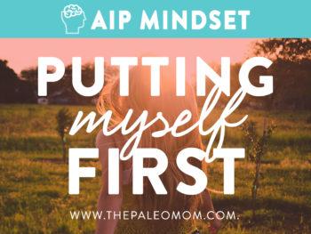 putting myself first