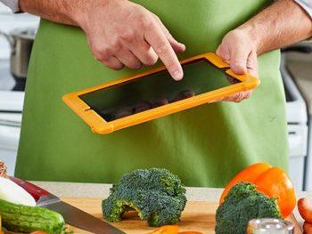 Ipad cut vegetables