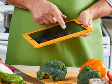 Ipad cut vegetables