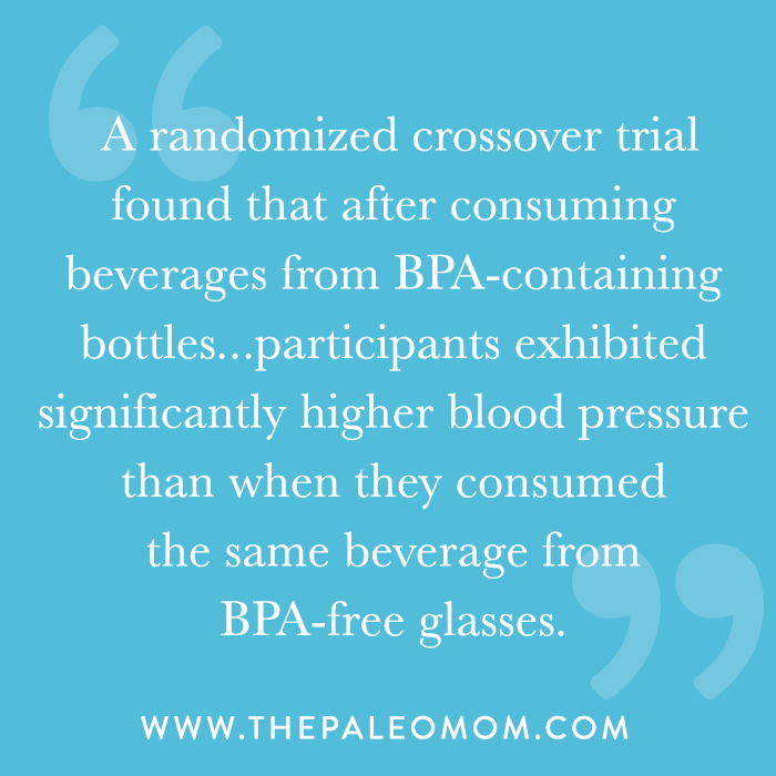 BPA can leach from containers into the food or beverage they contain.