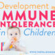 development of immune tolerance in children