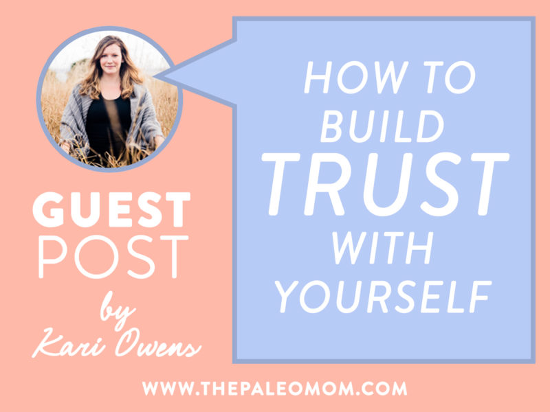 how to build trust with yourself