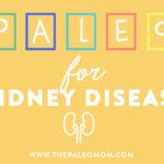 paleo for kidney disease